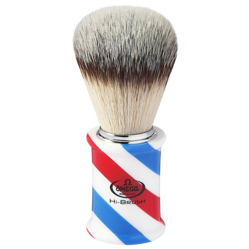 Pennello sintetico omega in stile Barber Pole